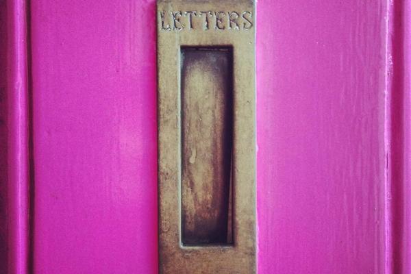 behind the pink door